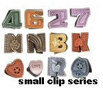 small hair clips series